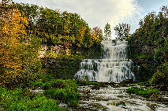Autumn Falls Nikon D5100, Sigma 17-70mm f/2.8-4, (1/3, 1/6, 1/13 & 1/25s bracket), 17mm, f/16, ISO 100