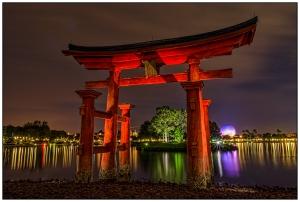 Torii Gate Light Reflections Nikon D5100, Sigma 17-70mm f/2.8-4, {10, 15, 30, 45, 60, 80 & 106s bracket}, 17mm, f/16, ISO 400