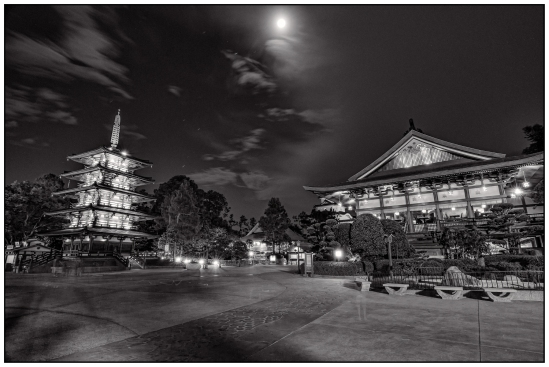 Full Moon Over Japan Pavilion Nikon D5100, Tokina 12-28mm f/4, 122s, 12mm, f/11, ISO 200