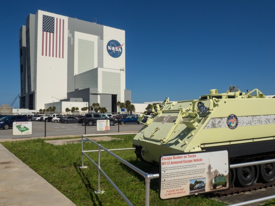 Armored Escape Vehicle with Vehicle Assembly Building